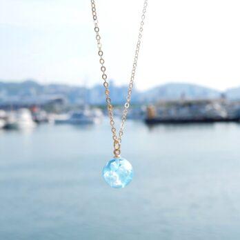 兩色-藍天白雲玻璃珠頸鏈