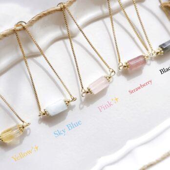 五色-抽拉式水晶手鏈