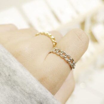 Free Size Bold Chain Ring
