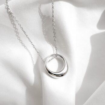 兩色-極簡楕圓水滴頸鏈
