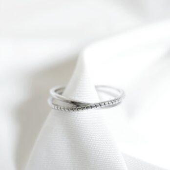 開口雙層交叉戒指Ring
