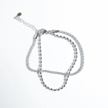 S925 Double Layer Bracelet(Blod)