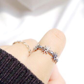 太陽花藍寶石Ring Set