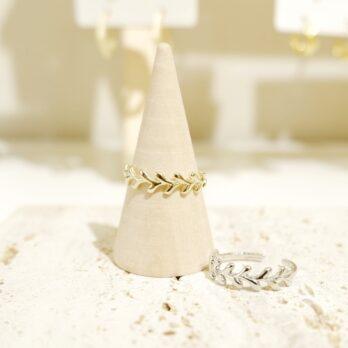 Free Size Leaf Ring II