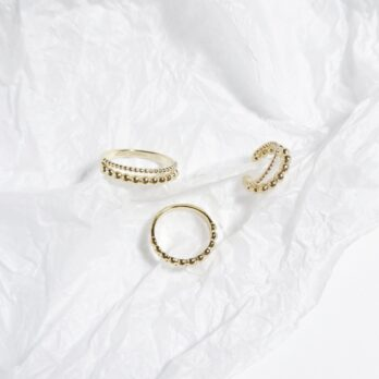 Double Ball Fix Size Ring