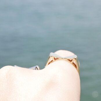 兩色-立體貓耳戒指(Size:16.1cm)