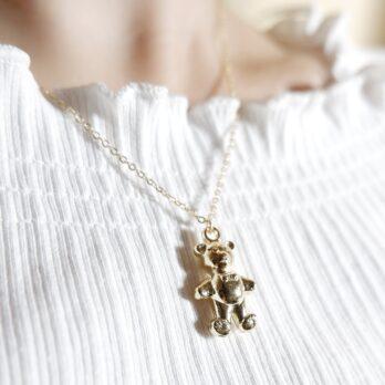Walking Teddy Bear Necklace