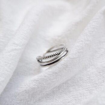 Preorder0三層復古開口戒指