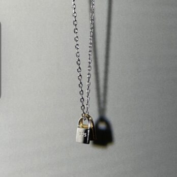 S925 Simple Lock and Key Necklace(Mixed Color)