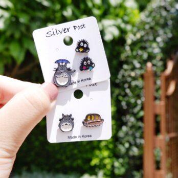 S925-龍貓組合耳環