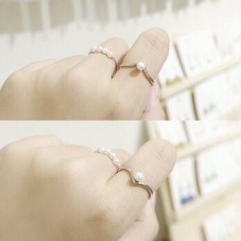 V shape Free Size Ring