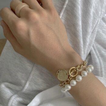 復古珍珠錢幣手鏈套裝(可以單買)