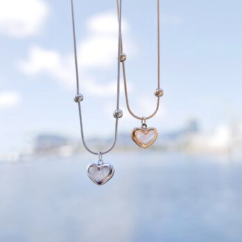 Stainless Shell Heart Necklace