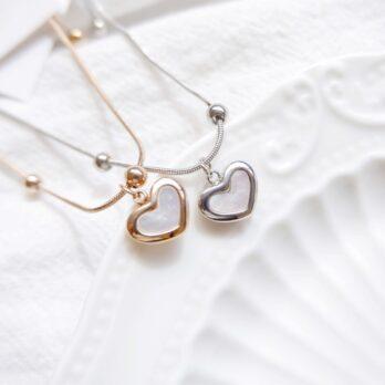 Preroder-Stainless Shell Heart Bracelet