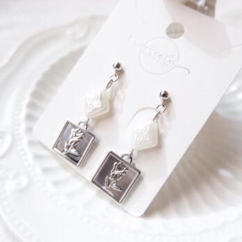 Preorder-復古玫瑰錢幣耳環/耳夾