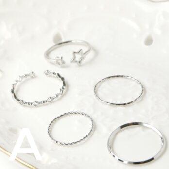 日常戒指套裝(一套5件) II