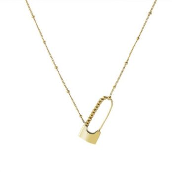 Stainlee steel Lock And Key Necklace