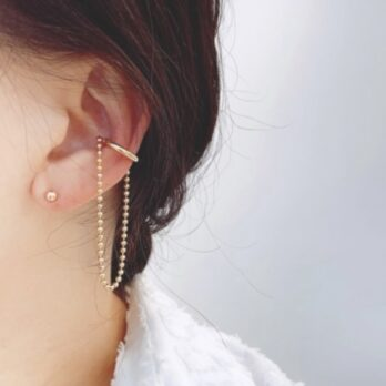 Link Curve Ear Cuff|曲線鏈條耳骨夾